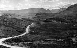 The Gairloch To Ullapool Road c.1939, Ullapool