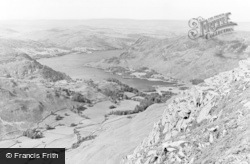 Ullswater, Lake And Mountain View From St Sunday Crag c.1955
