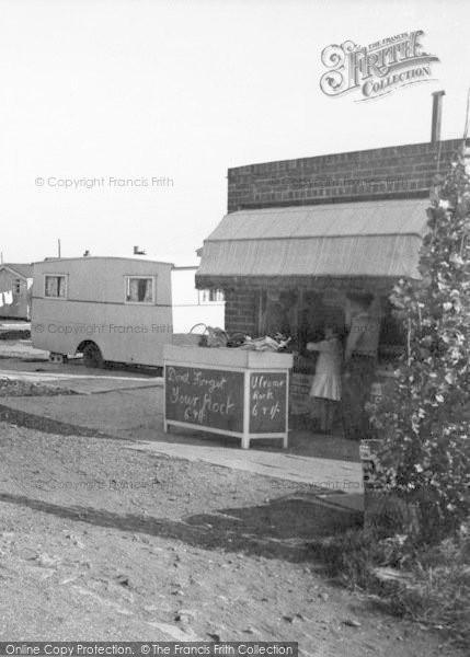 Photo of Ulrome, Galleon Beach Caravan Centre Rock Shop c.1955
