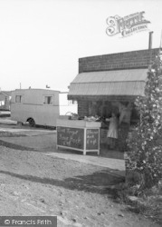 Ulrome, Galleon Beach Caravan Centre Rock Shop c.1955