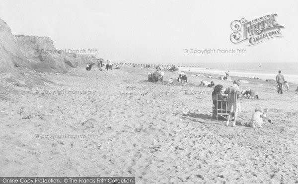 Photo of Ulrome, The Beach And Cliffs c.1955