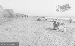 Ulrome, The Beach And Cliffs c.1955