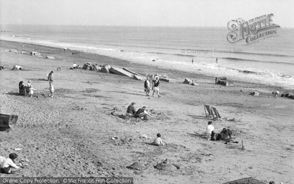 Photo of Ulrome, The Beach c.1955
