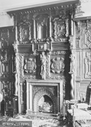 Ulverston, Conishead Priory, The Oak Room Fireplace c.1931