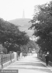 Ulverston, Hoad Hill  From Church Walk 1895