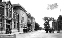 Ulverston, Post Office And Coronation Hall 1918