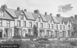 Ulverston, Terraced Houses By Lightburne Park 1907