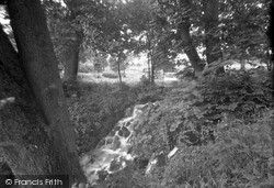 Ulverston, The Waterfall, Conishead Priory c.1931