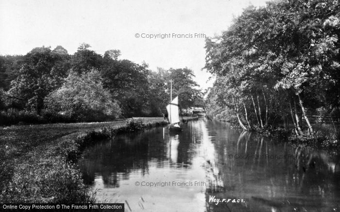 Photo of Unstead, The Wey 1898