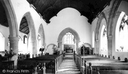 Upavon, St Mary's Church Interior c.1965