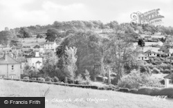 Uplyme, Village From Church Hill c.1960