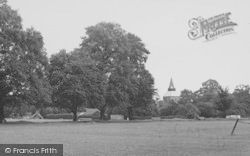 Upminster, St Laurence Church From The Recreation Ground c.1955