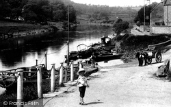 Upper Arley, Boy On The Landing Stage 1910