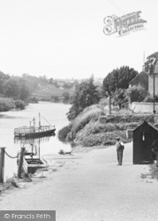 Upper Arley, The River And Ferry c.1955