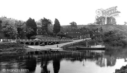 Upper Arley, The River Severn And Village c.1955