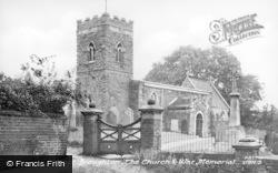 The Church And War Memorial c.1960, Upper Broughton