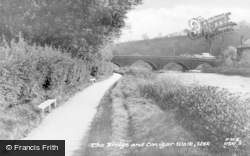 Usk, The Bridge And Conigar Walk c.1955