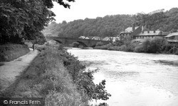 Usk, The Bridge And Conigar Walk c.1960