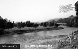 Usk, The River And Island c.1955