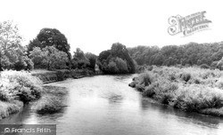 Usk, The River From The Usk Bridge c.1960