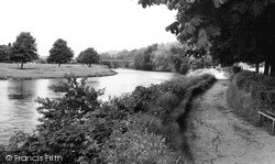 Usk, The Riverside c.1960