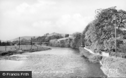 Usk, View From The Bridge c.1955