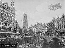 Oudegracht, Bakkerbrug And Domtoren c.1930, Utrecht
