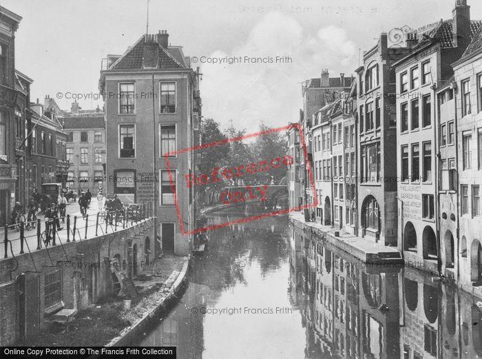 Photo of Utrecht, Oudegracht From Maartensbrug c.1930