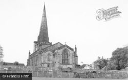 Uttoxeter, Church From Gardens c.1965