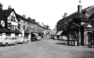 Uttoxeter, Market Place And High Street 1957