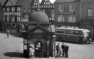 Uttoxeter, Men In The Market Place c.1955