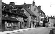 Uttoxeter, Old Houses And The White Hart c.1955
