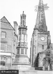 Uttoxeter, The Memorial And Church c.1955