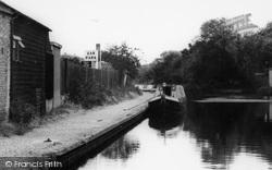 Uxbridge, Narrowboat On The Canal c.1965