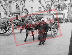 Woman With Donkey Cart c.1939, Uzes