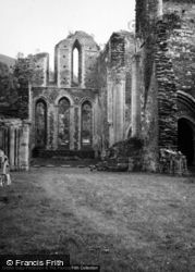 Valle Crucis, Abbey, East End Of Church 1948, Valle Crucis Abbey