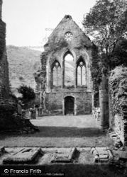Valle Crucis, Abbey, West Front 1948, Valle Crucis Abbey