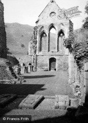 Valle Crucis, Abbey, West Front 1952, Valle Crucis Abbey