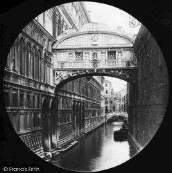 Bridge Of Sighs From Quay c.1875, Venice