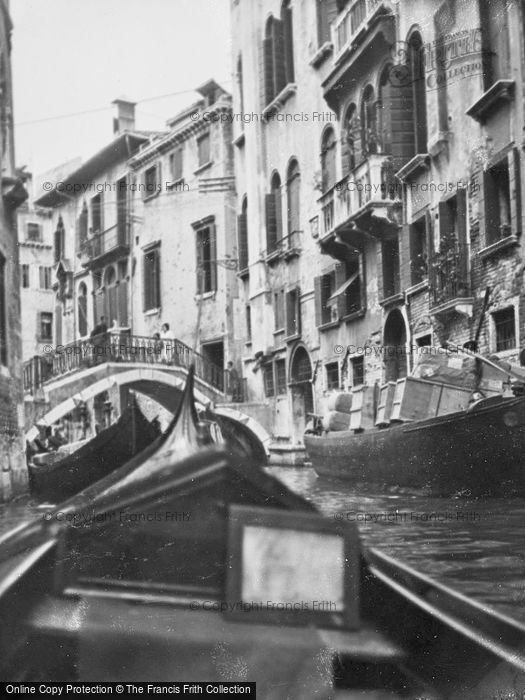 Photo of Venice, Bridge Over Busy Canal 1938