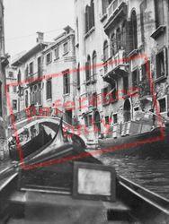 Bridge Over Busy Canal 1938, Venice