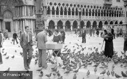 Feeding The Pigeons, Piazza San Marco 1938, Venice