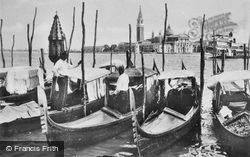 Gondolas c.1935, Venice