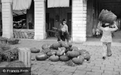 Pumpkins In The Market 1938, Venice