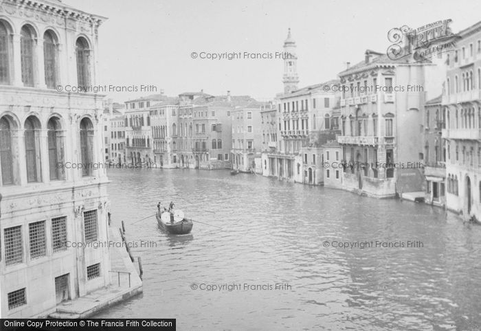 Photo of Venice, The Grand Canal 1938