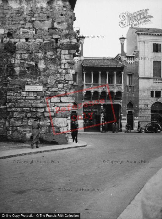 Photo of Verona, Piazza Mura, Gallieno, Remains Of Gallienus' Walls 1938