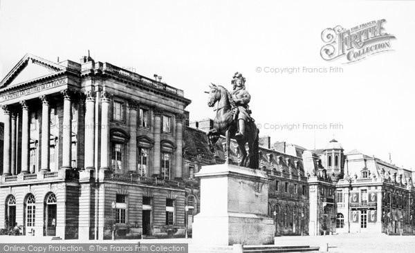 Photo of Versailles, The Palace, Statue 'louis Xiv' c.1871