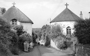 Veryan, the Round Houses c1955