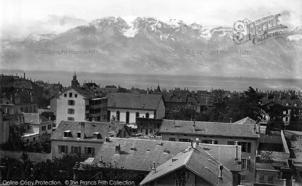Photo of Vevey, From St Martine's Church c.1874