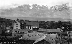 From St Martine's Church c.1874, Vevey